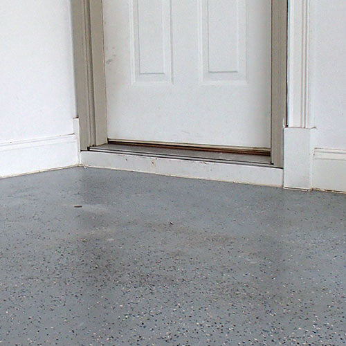 Garage floor after leveling
