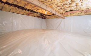 Crawl Space Moisture Barrier After in Santa Rosa