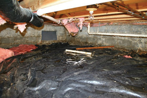 Crawl Space Repair Before in Sacramento