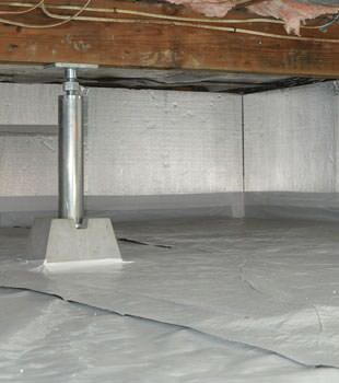Installed crawl space insulation in Woodland